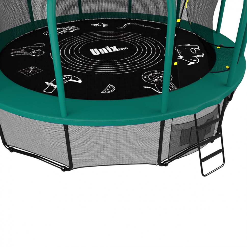Батут UNIX line SUPREME GAME 16 ft (green)